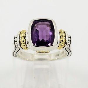 Lagos Amethyst Ring 18kt / Sterling Silver